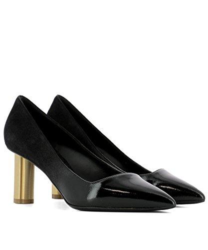 0671142 Cuir Salvatore Ferragamo Escarpins Femme Noir 6xxzwqRCS
