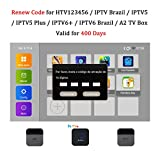 Renew Code Brazil TV Box Activation Code for HTV IPTV5 6 Plus / A2 TV Box Brazil Brazilian TV Box Subscription Service Valid for 400 Days
