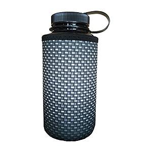 Koverz XL - #1 Neoprene 32-40 oz Water Bottle Insulator Cooler Coolie - Carbon Fiber