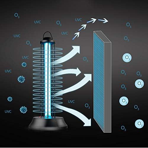 Purificador de aire para lámpara de esterilización UVC Anti-Bacterial Rate 100% Ozone Portátil Ozono UV-C Desinfectante Luz ultravioleta Germicida Lámpara (60W con control remoto)