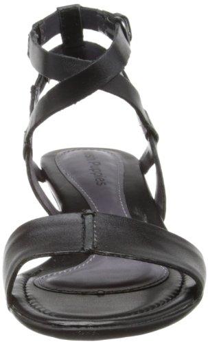 Hush Puppies Womens Bandy QTR Strap Ballet Flat Black Leather jRnDor