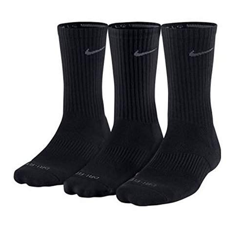 [SX4827-001] NIKE 3PPK DRI FIT CUSHION CREW COTTON SOCKS ACCESSORIES SOCKS NIKEBLACK from Nike