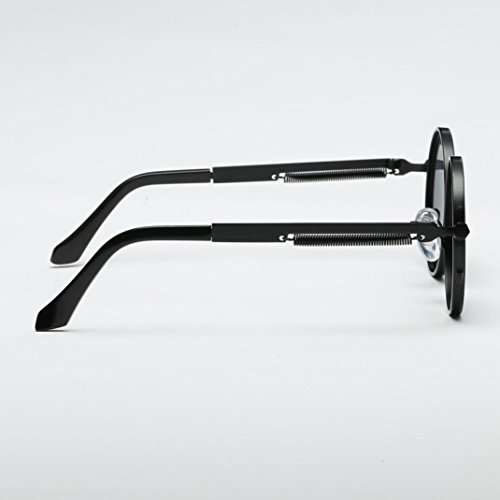 Steampunk inspirado polarizadas retro sol para de círculo mujers gafas hombres B metálico estilo redondo Gusspower y wtHBdt