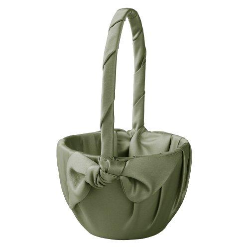 Ivy Lane Design Love Knot Flower Girl Basket, Sage