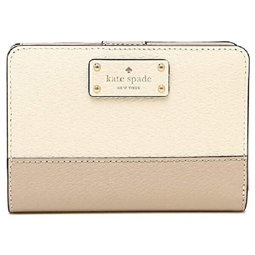 - Kate Spade New York Grove Street Tellie Bifold Wallet, Warm Beige/Cement