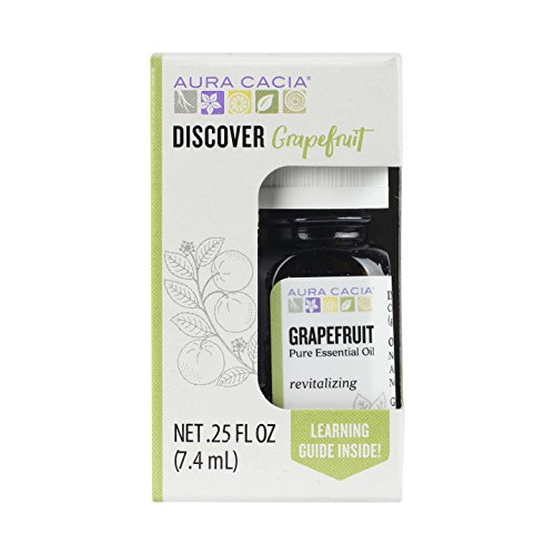 Aura Cacia Discover Essential Oil- Grapefruit | Revitalizing Benefit with Fresh, Sweet, Fruity Aroma | 0.25 fl oz.