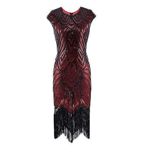 Voberry Kleider Damen Frauen 1920er Jahre Quaste Prom Kleid ...