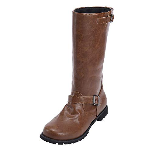 Stitch Rubber Sole (Women Boots Foncircle Winter Motorcycle Boot Fashion Classic Women Martin Boots)