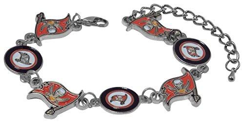 Pro Specialties Group NFL Tampa Bay Buccaneers Logo Bracelet