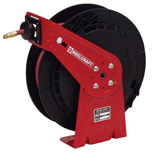 ReelTek Light Industrial Air/Water/Oil Reel - Low Pressure - -1/2'' Hose Inside Dia. - 35' Hose Length by Reeltek