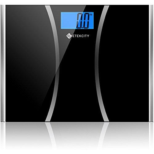 Etekcity Ultra Wide Platform Digital Body Weight Scale, 440 Pounds, Tempered Glass