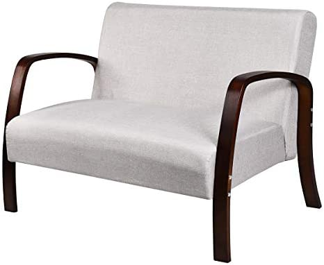 Giantex Modern Accent Wooden Armchair