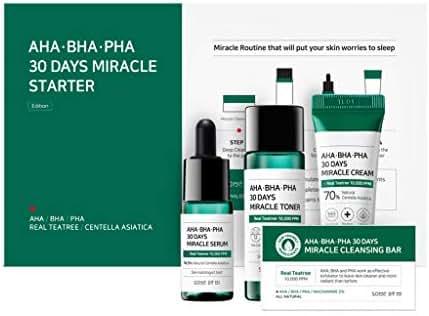 SOME BY MI Aha.Bha.Pha 30Days Starter Limited Edition 4 Pcs Set (Toner 30ml+Serum 10ml+Cream 20g+Cleansing Bar 25g)