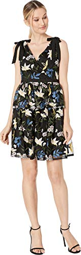 - Adrianna Papell Women's Sequin Embroidery Cocktail Dress Blue/Yellow Multi 14
