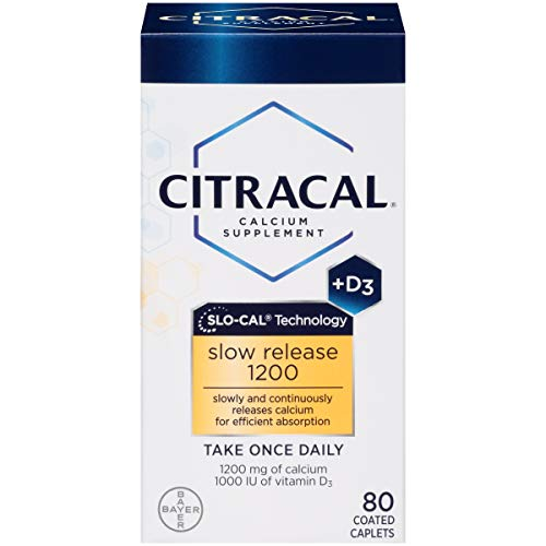 Citracal with Calcium D Slow Release 1200, 80-Count (Side Effects Of Calcium Carbonate With Vitamin D)
