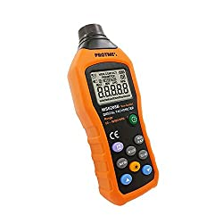 MS6208B Non-contact Digital Tachometer, Laser Photo 50 - 99,999 RPM High precision Tester with Max/Min/AVG Backlight Data Hold Functions