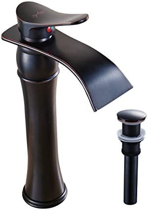 NEW Oil Rubbed Bronze Bath Waterfall  Vessel Basin Sink Taps Mixer Faucets