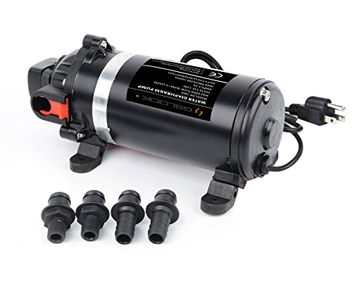 (GSLOOK AC110V/115V High Pressure Diaphragm Water Pump 160PSI 8L/min, Self-priming Misting Booster Pump Sprayer for Caravan/RV/Boat/Marine)