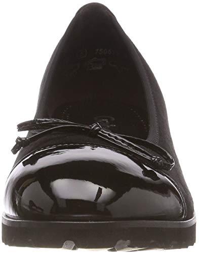 Jollys Gabor schwarz Nero 17 Ballerine Donna 0qS77d8x