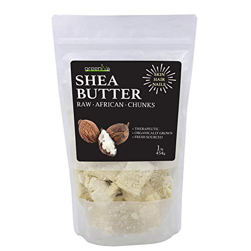 GreenIVe - 100% Pure Shea Butter - Raw - Exclusively on Amazon (1 Pound Crumble)