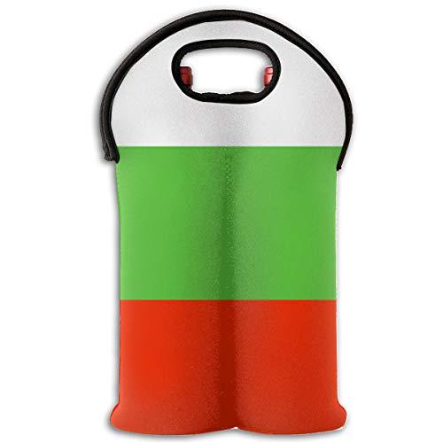 Mipu Shangmao Bulgarian Flag Wine Bag Red Nautical2 Bottle Red Wine Tote Bag Insulated Padded Champagne Handle Bag Wine Bag