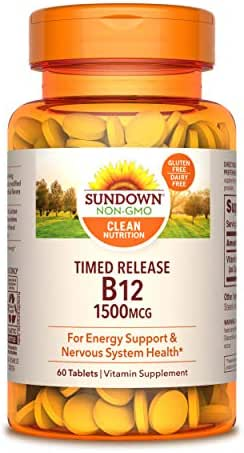 Vitamins & Supplements: Sundown Naturals Time Release B12