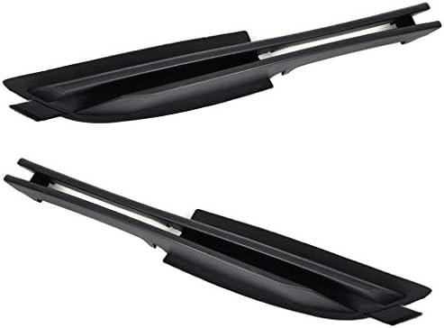 Republe Izquierda + Lado Derecho reemplazo 1 par Frontal de Coche Inferior del Parachoques Parrilla 51117032613/51117032614 Auto para BMW E46 02-05