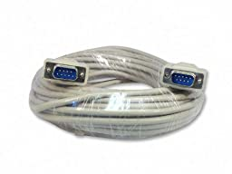 Your Cable Store 50 Foot DB9 9-Pin Serial Port Cable Male / Male RS232