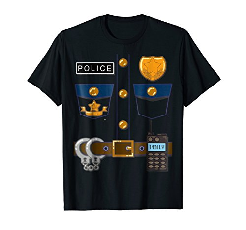 Policeman Costume Funny Halloween Police Officer T Shirt