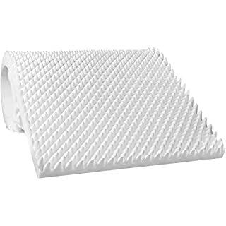 """AK TRADING CO. 2.5"""" Thick CertiPUR-US Certified Convoluted Hospital Mattress Pad, Egg Crate Foam Foam Sheet 