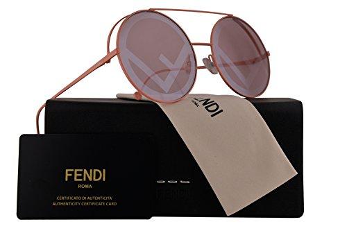 Fendi FF0285/S Sunglasses Pink w/Pink Lens 63mm 35J01 FF0285S FF 0285S FF 0285/S