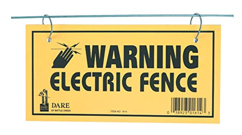Dare Products 1614-3 185809 Electric Fence Warning Sign (3 Pack), Yellow