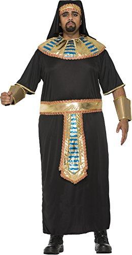 Men's Egyptian Pharaoh Plus Size Costume Robe Roman King Tut Gold Black Adult XL - Pharaoh Adult Mens Plus Size Costumes
