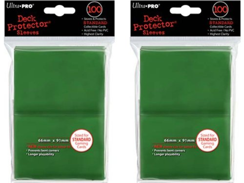 Ultra Pro Standard Solid Green Deck Protector Sleeves for Gaming