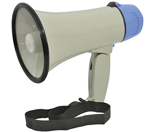 Ex-Pro Handy Loud compact megaphone with built-in siren and adjustable...