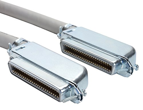 Amphenol MP-5T90FFUNNA-005 Cat3 25-Pair Telco Cable, 90 Degree, 50-Pin RJ21, Male, 5', Gray
