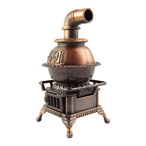 Pot Belly Stove Die Cast Pencil Sharpener](Scale Model Wood)