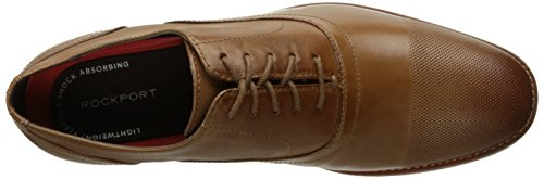 Rockport Heren Derby Kamer Perf Cap Teen Oxford Cognac