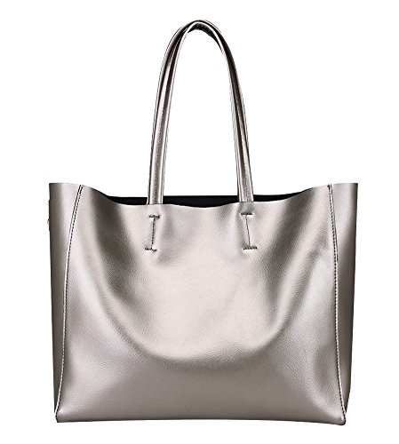 Silver Leather Bag - 3