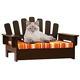Etna Products Wooden Adirondack Pet Chair, standar...