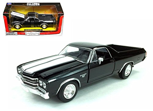 NEW 1:24 W/B NEWRAY CITY CRUISER COLLECTION - BLACK 1970 CHEVROLET EL CAMINO SS Diecast Model Car By NEWRAY - 1970 Collection