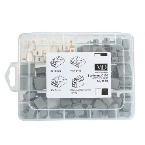 ViD Steckklemmen I Verbindungsklemmen GRAU- Box 1 - 2, 5 mm² 130 Stück 5 mm² 130 Stück ViolaDirekt GmbH