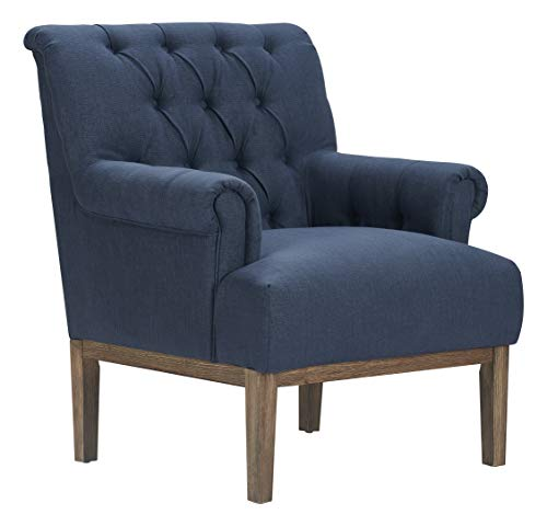 (Finch UPH20064C Westport Tufted Accent Chair, Blue)