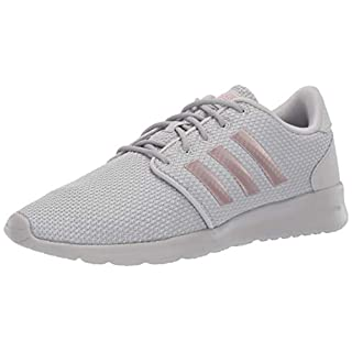 adidas Women's Cloudfoam QT Racer, Light Granite/Copper Metallic/Grey, 11 M US