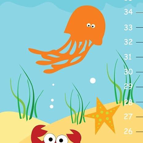 Personalised Aquatc Sea  Ocean Fish Measuring Height Growth Chart Gift Pack
