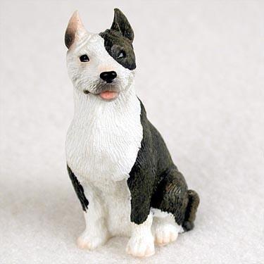 Pit Bull Terrier Miniature Dog Figurine - Brindle
