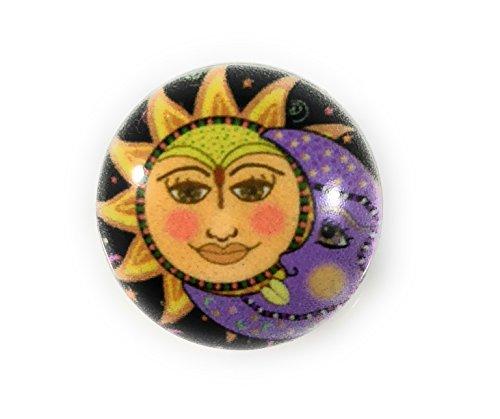 (Snap Charm Sun Moon Painted Enamel 20mm 3/4