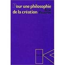 Pour une philosophie de la création