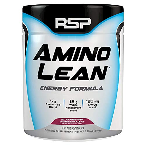 RSP AminoLean - All-in-One Pre Workout, Amino Energy, Weight Management Supplement with Amino Acids, Complete Preworkout Energy for Men & Women, Blackberry Pom, 30 (Packaging May Vary) (Best Pre And Post Workout Supplements For Weight Loss)