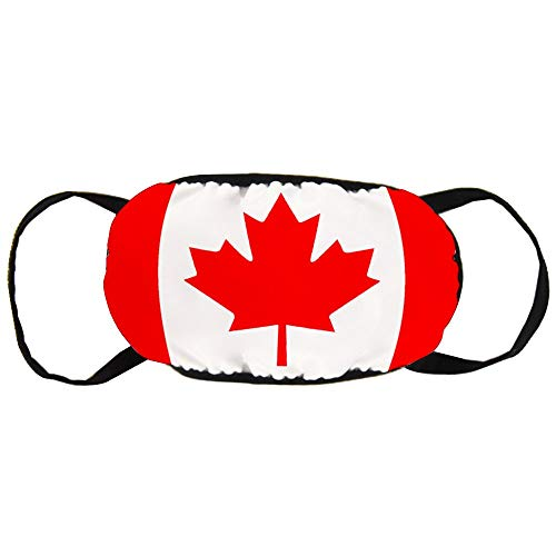Best Halloween Masks Canada (Canada Flag Fashion Mouth Mask Unisex Cotton Anti-Dust Face Mask Washable and Reusable Breathable for Cycling Camping Travel Halloween (2)